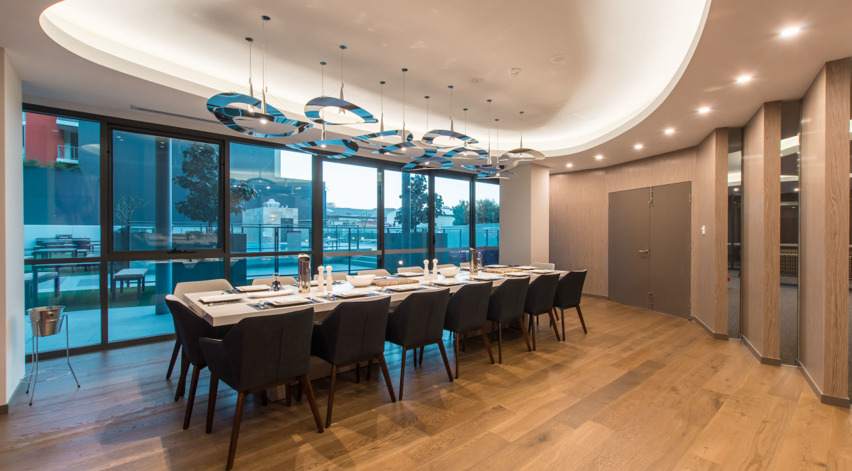 16 seat private executive dining room